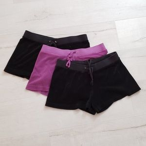 3 pairs of Juicy Couture Terry shorts size Small